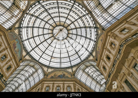 MILAN ITALY THE ROOF INSIDE THE ARCADE GALLERIA VITTORIO EMANUELE II - Stock Photo