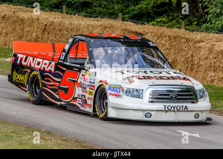 2004 Toyota Tundra NASCAR with driver Andrew Franzone at the 2017 Goodwood Festival of Speed, Sussex, UK. - Stock Photo