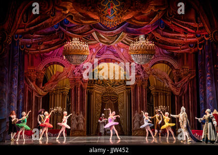 Scene from the ballet 'Sleeping Beauty' of the Ballet Theater of Classical Choreography of Elik Melikov in Moscow, - Stock Photo