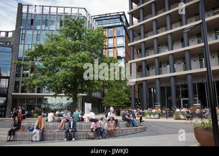 Pancras Square, Kings Cross, London - Stock Photo