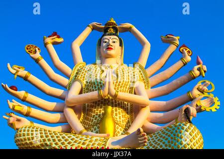 Wat Plai Laem Temple, the big Guan Yin statue on the island Koh Samui, Thailand. - Stock Photo
