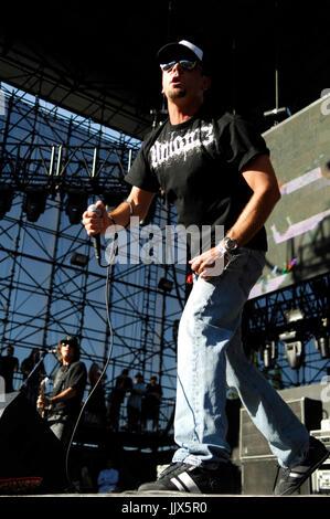 Jim Lindberg Pennywise performing 2008 KROQ Weenie Roast Y Fiesta Verizon Wireless Amphitheater Irvine. - Stock Photo