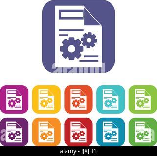 Web setting icons set - Stock Photo
