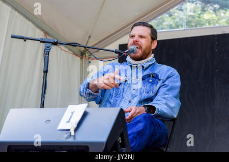 Bahamas plays at 40th Annual Vancouver Folk Music Festival, Vancouver, British Columbia, Canada. - Stock Photo
