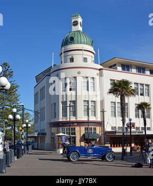 Napier - New Zeland - April 27, 2017: The T&G Building Is an example of the Art Deco style of architecture from - Stock Photo