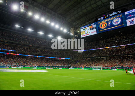 Houston, TX, USA. 20th July, 2017. A general view of NRG Stadium from the pitch prior to the International Champions - Stock Photo