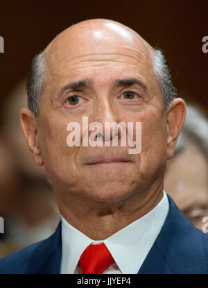 Lewis M. Eisenberg, Ambassador-designate of the USA to the Italian Republic, and to serve concurrently and without - Stock Photo