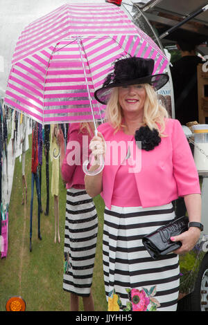 Knutsford Cheshire, UK.  21st July, 2017. Eileen Langan at Ladies Day special event held at Tatton Park Flower show. - Stock Photo
