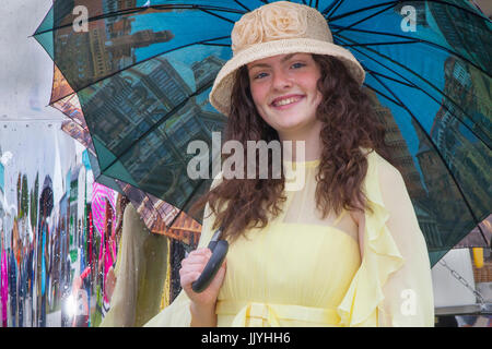 Knutsford Cheshire, UK.  21st July, 2017. Coleen Langan at Ladies Day special event held at Tatton Park Flower show. - Stock Photo