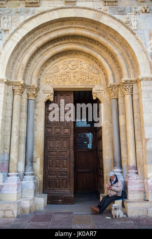Basilica of San Isidoro, Leon, Spain. Camino de Santiago. - Stock Photo