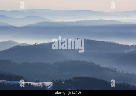 Look of the Hornisgrinde on the north Black Forest, Baden-Wurttemberg, Blick von der Hornisgrinde auf den Nordschwarzwald, - Stock Photo