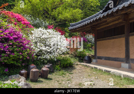 part of traditional korean house - Stock Photo