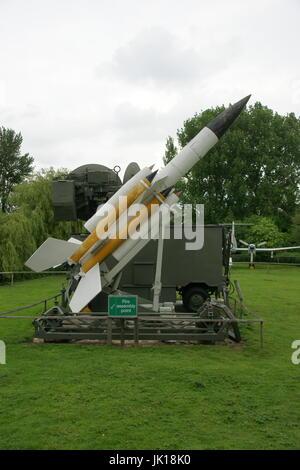 Bristol Bloodhound, British surface-to-air missile - Stock Photo