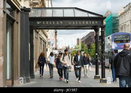 McLellan Galleries, Sauchiehall Street, Glasgow, Scotland, UK - Stock Photo