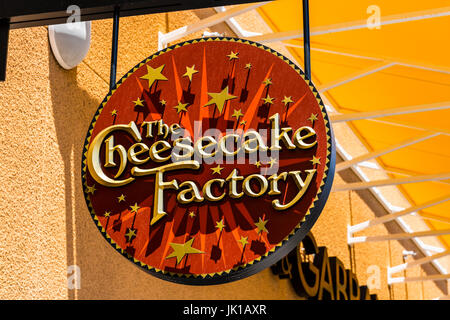 Las Vegas - Circa July 2017: The Cheesecake Factory Casual Restaurant Location. The Cheesecake Factory makes and - Stock Photo