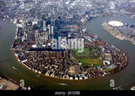Central London from the air - Stock Photo