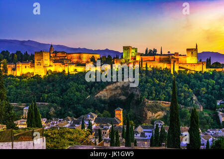 Alhambra, Granada, Spain - Stock Photo