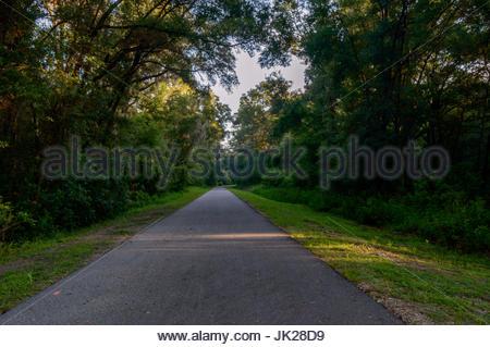 Rainbow river park trial - Stock Photo