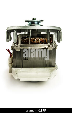 Electric motor isolated on the white background. - Stock Photo