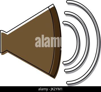 volume of sound speaker louder amplifier - Stock Photo
