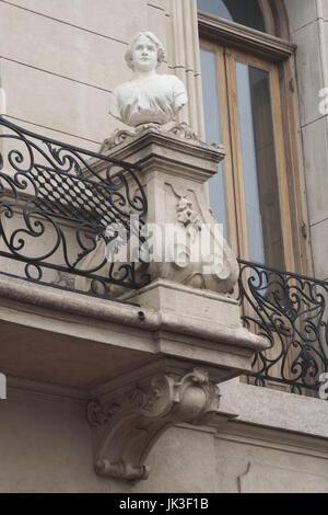 Argentina, Buenos Aires, San Telmo, Plaza Dorrego building detail - Stock Photo