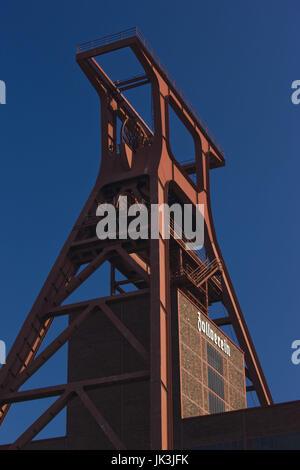Germany, Nordrhein-Westfalen, Ruhr Basin, Essen, World Heritage Zollverein former coal mine, - Stock Photo