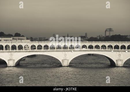 France, Paris, Pont de Bercy bridge, morning - Stock Photo