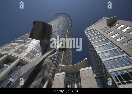 Germany, Hessen, Frankfurt am Main, Financial District, DZ Bank Tower, - Stock Photo