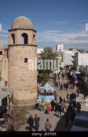 Tunisia, Tunisian Central Coast, Sousse, Medina market by the Great MOsque - Stock Photo