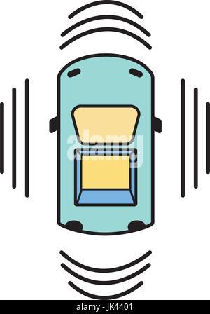 car transportation from above with sunroof stock vector art rh alamy com Remote Start Clip Art Ice Cream Sandwich Clip Art