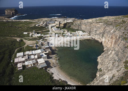 Malta, Gozo Island, Dwejra, elevated view of the Inland Sea - Stock Photo