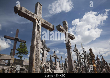 Lithuania, Central Lithuania, Siauliai, Hill of Crosses, religious pilgrimage site - Stock Photo