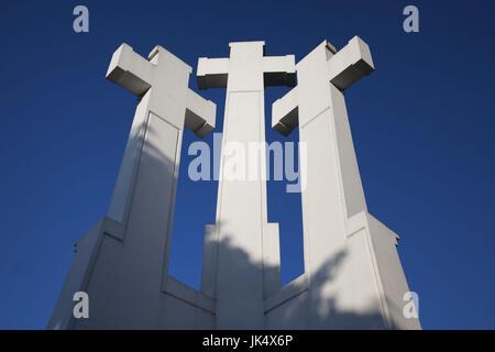 Lithuania, Vilnius, Three Crosses Hill - Stock Photo
