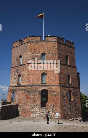 Lithuania, Vilnius, Gediminas Hill, Gedimino Tower - Stock Photo