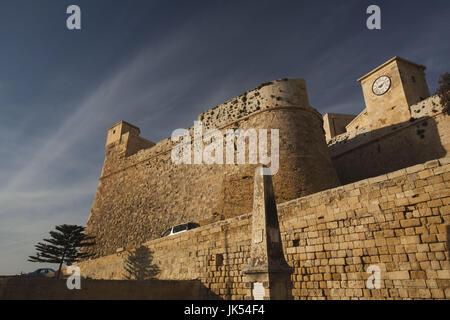Malta, Gozo Island, Victoria-Rabat, Il-Kastell fortress, exterior - Stock Photo