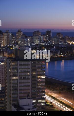 Uruguay, Punta del Este, evening aerial view - Stock Photo