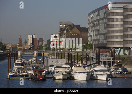 Germany, Nordrhein-Westfalen, Ruhr Basin, Duisburg, Inner Harbour Duisburg, - Stock Photo