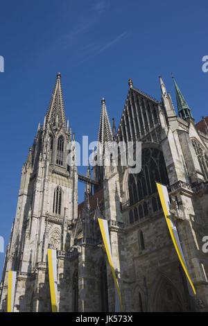 Germany, Bavaria, Regensburg, Dom St. Peter cathedral, - Stock Photo