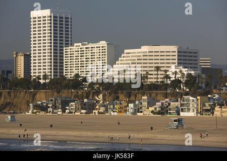 USA, California, Los Angeles, Santa Monica, Ocean Avenue buildings - Stock Photo