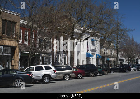 USA, New York, Long Island, The Hamptons, Southhampton, Main Street - Stock Photo