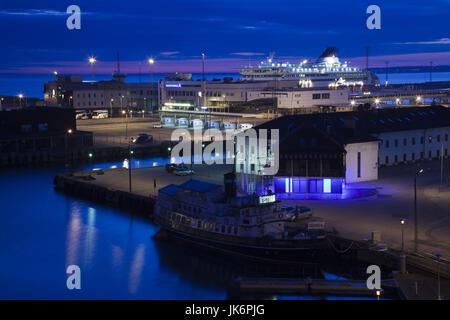 Estonia, Tallinn, Passenger Port, international ferry, dawn - Stock Photo