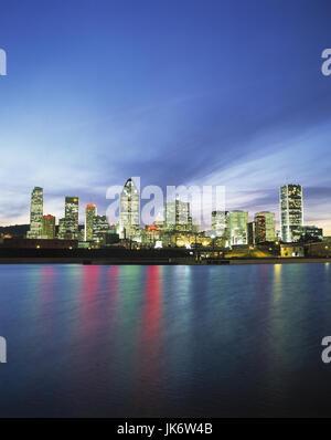 Kanada, Provinz Quebec, Montreal,  Skyline, Lachine Canal, Abendstimmung Canada, Häuser, Gebäude, Stadtansicht, - Stock Photo