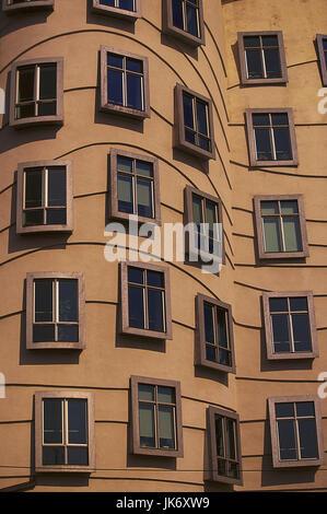 Tschechische Republik, Mittelböhmen,  Praha, Nove Mesto,  Nationale-Nederlanden Building, Detail Europa, Osteuropa, - Stock Photo