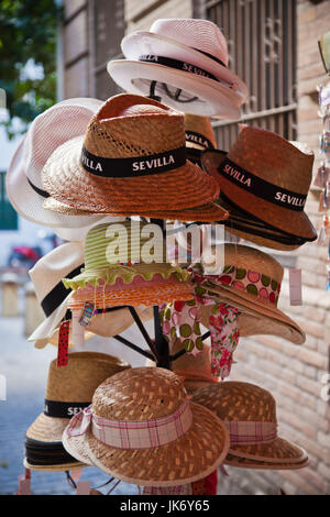 Spain, Andalucia Region, Seville Province, Seville, souvenir hats - Stock Photo