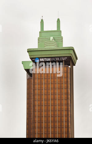 Spain, Madrid, Salamanca Area, Torres Colon towers - Stock Photo
