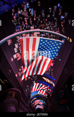 USA, Nevada, Las Vegas, Downtown, Fremont Street Experience, sound and light show - Stock Photo