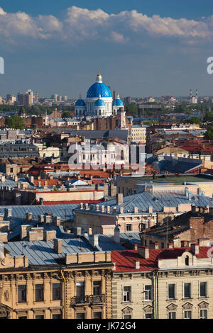 Russia, Saint Petersburg, Center, elevated city view from St. Isaac Cathedral - Stock Photo