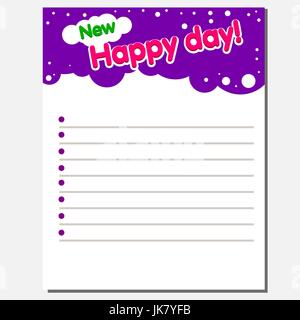 Ready-made design of the inner page of a children s notebook. - Stock Photo