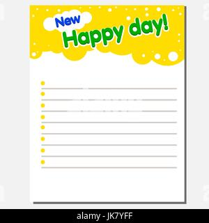 Design of the internal page of a children s laptop with the text - Stock Photo