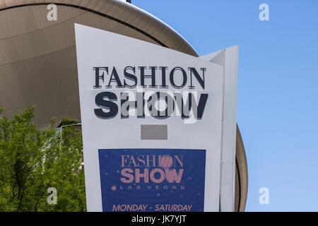 Las Vegas - Circa July 2017: Fashion Show Mall on the Las Vegas Strip. With over 250 stores, Fashion Show Mall is - Stock Photo